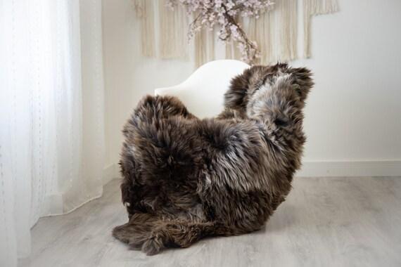 Real Sheepskin Rug Shaggy Rug Chair Cover Scandinavian Home Sheepskin Throw Sheep Skin Ivory Brown Sheepskin Home Decor Rugs #herdwik278