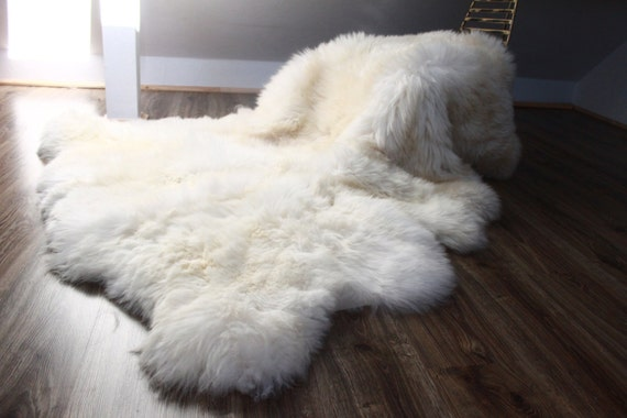 Genuine Natural creamy white Sheepskin Rug Pelt Giant Sheepskin throw Sexto Real Sheepskin Rug Scandinavian Decor Sofa Sheep Skin Rugs