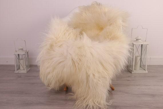 Real Icelandic Sheepskin Rug Scandinavian Decor Sofa Sheepskin throw Chair Cover Natural Sheep Skin Rugs Ivory Blanket Fur Rug #kefisl19