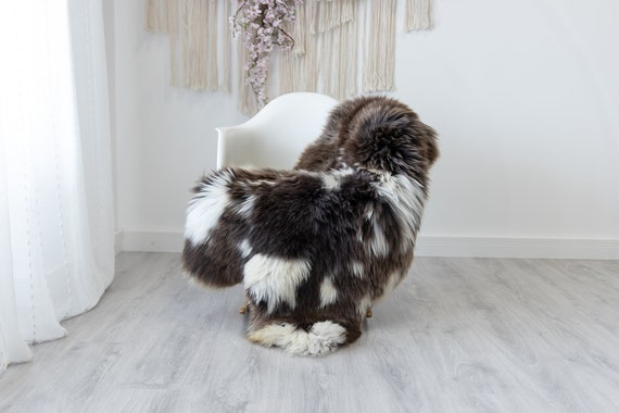 Real Sheepskin Rug Shaggy Rug Chair Cover Scandinavian Home Sheepskin Throw Sheep Skin White Brown Sheepskin Home Decor Rugs #herdwik183