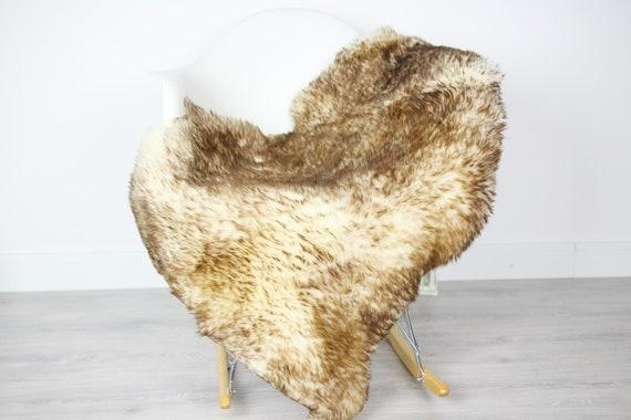 Sheepskin Rug | Real Sheepskin Rug | Shaggy Rug | Scandinavian Rug | Sheepskin Throw Brown Sheepskin | SCANDINAVIAN DECOR | #3HER13