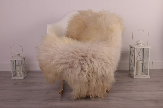 Real Icelandic Sheepskin Rug Scandinavian Decor Sofa Sheepskin throw Chair Cover Natural Sheep Skin Rugs Ivory Blanket Fur Rug #kefisl21