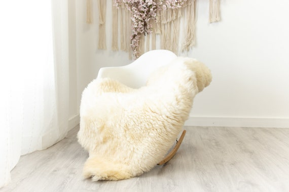 Real Sheepskin Merino Rug Shaggy Rug Chair Cover Sheepskin Throw Sheep Skin Sheepskin Home Decor Rugs Blanket Creamy White #herdwik95