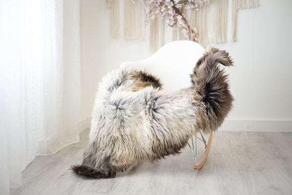 Real Sheepskin Rug Shaggy Rug Chair Cover Scandinavian Home Sheepskin Throw Sheep Skin White Brown Sheepskin Home Decor Rugs #herdwik262