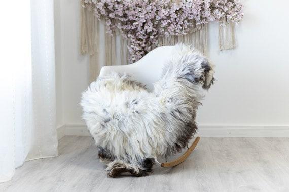 Real Sheepskin Rug Shaggy Rug Chair Cover Scandinavian Home Sheepskin Throw Sheep Skin White Gray Sheepskin Home Decor Rugs #herdwik126