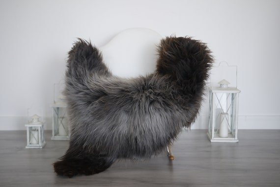 Real Sheepskin Rug Shaggy Rug Chair Cover Sheepskin Throw Sheep Skin Brown Gray Sheepskin Home Decor Rugs #6her33