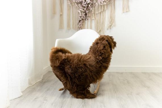 Real Sheepskin Merino Rug Shaggy Rug Chair Cover Sheepskin Throw Sheep Skin Sheepskin Home Decor Rugs Blanket Brown #herdwik90