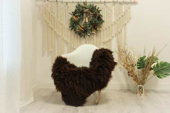 Real Icelandic Sheepskin Rug Scandinavian Decor Sofa Sheepskin throw Chair Cover Natural Sheep Skin Rugs Brown Blonde #Iceland80