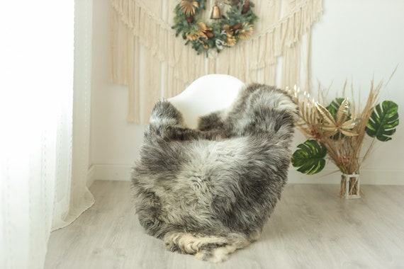 Real Sheepskin Rug Shaggy Rug Chair Cover Sheepskin Throw Sheep Skin Gray Ivory Sheepskin Home Decor Rugs #Gut16