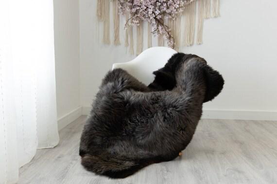 Real Sheepskin Rug Shaggy Rug Chair Cover Scandinavian Home Sheepskin Throw Sheep Skin Brown Gray Sheepskin Home Decor Rugs #herdwik223