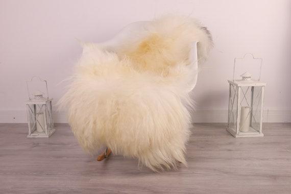 Real Icelandic Sheepskin Rug Scandinavian Decor Sofa Sheepskin throw Chair Cover Natural Sheep Skin Rugs Ivory Blanket Fur Rug #kefisl15