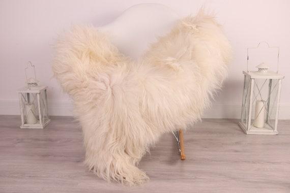 Real Icelandic Sheepskin Rug Scandinavian Decor Sofa Sheepskin throw Chair Cover Natural Sheep Skin Rugs Black White Blanket Fur Rug #Am15