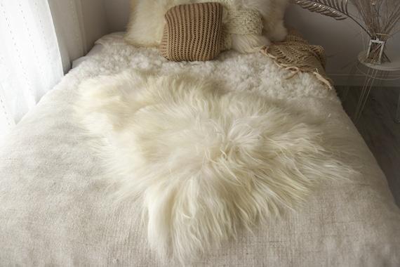 ON SALE White Sheepskin   Icelandic Sheepskin   Real Sheepskin Rug   Icelandic Sheepskin rug  Shaggy Rug   Chair Cover   home decor   white