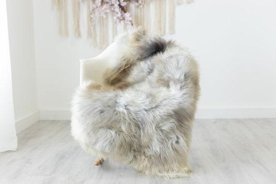 Real Sheepskin Rug Shaggy Rug Chair Cover Scandinavian Home Sheepskin Throw Sheep Skin White Gray Sheepskin Home Decor Rugs #herdwik226