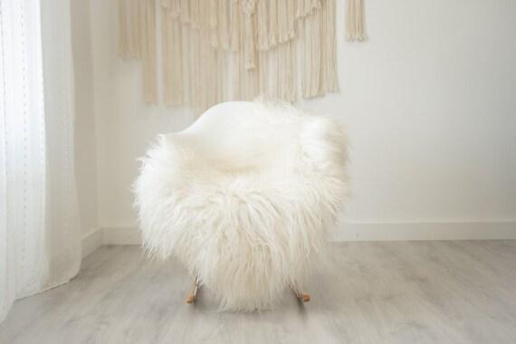 Real Icelandic Sheepskin Rug Scandinavian Home Decor Sofa Sheepskin throw Chair Cover Natural Sheep Skin Rugs Ivory fur #Iceland515