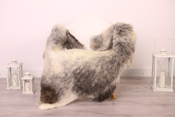 Real Sheepskin Rug Shaggy Rug Chair Cover Sheepskin Throw Sheep Skin Brown Gray Sheepskin Home Decor Rugs #8her21