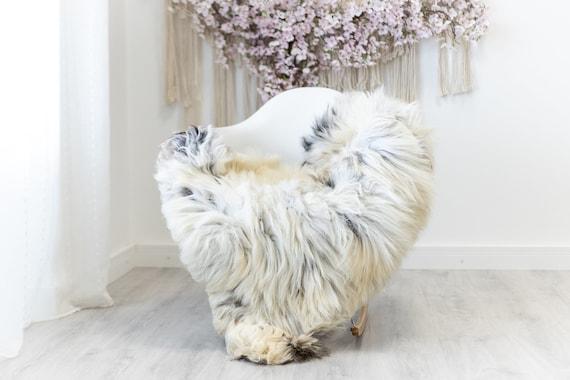 Real Sheepskin Rug Shaggy Rug Chair Cover Scandinavian Home Sheepskin Throw Sheep Skin Ivory Brown Sheepskin Home Decor Rugs #herdwik123