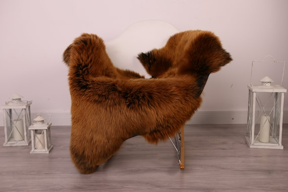 Real Sheepskin Rug Shaggy Rug Chair Cover Sheepskin Throw Sheep Skin Gray Brown Sheepskin Home Decor Rugs #8her34