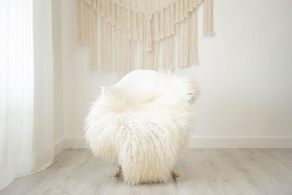 Real Icelandic Sheepskin Rug Scandinavian Home Decor Sofa Sheepskin throw Chair Cover Natural Sheep Skin Rugs Ivory fur #Iceland511