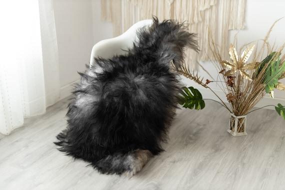 Real Icelandic Sheepskin Rug Scandinavian Decor Sofa Sheepskin throw Chair Cover Natural Sheep Skin Rugs Gray Fur Rug #Urisl2