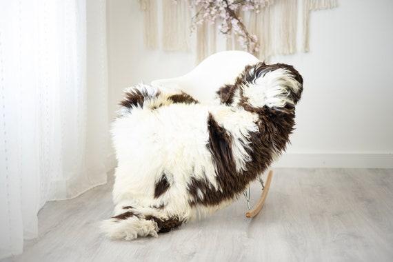 Real Sheepskin Rug Shaggy Rug Chair Cover Scandinavian Home Sheepskin Throw Sheep Skin White Brown Sheepskin Home Decor Rugs #herdwik261