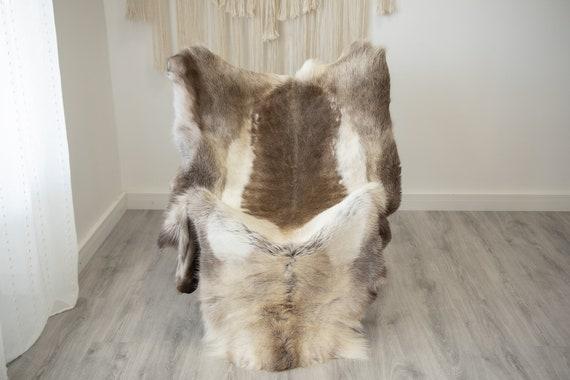 EXTRA LARGE Reindeer Hide | Reindeer Rug | Reindeer Skin | Throw XXL  - Scandinavian Style Christmas Decor Brown White Hide #Reindeer72