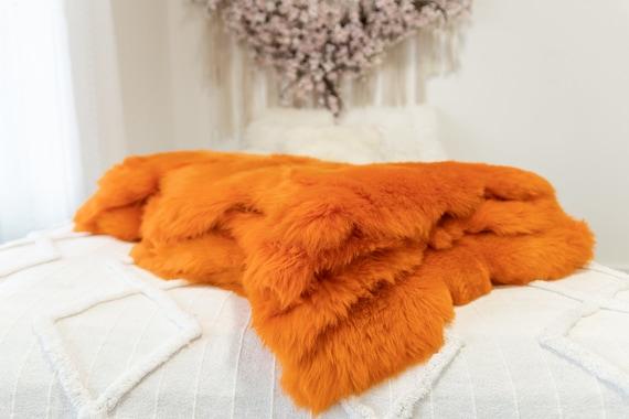 Genuine Natural Orange Sheepskin Rug Sheepskin Throw Scandinavian Style | Scandinavian Rug | Sheep Skin -  WHOLESALE PACK 10 PIECES