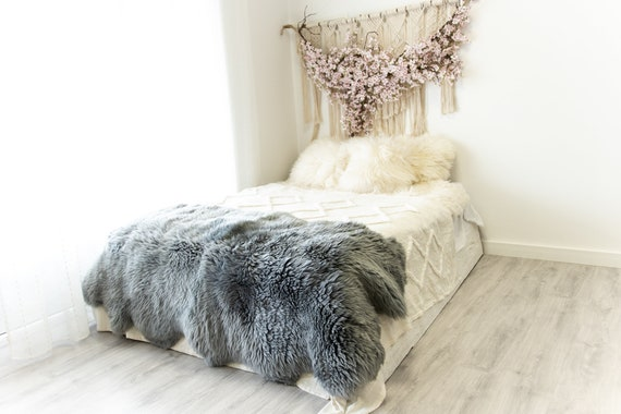 Quattro Sheepskin Rug | Large Sheepskin | Gray Sheepskin | Sheepskin Throw | Merino Sheepskin Rug | #2pol20