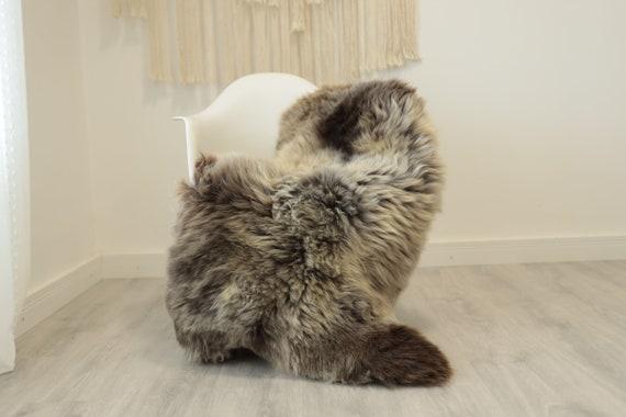 Real Sheepskin Rug Shaggy Rug Chair Cover Scandinavian Home Sheepskin Throw Sheep Skin Ivory Brown Sheepskin Home Decor Rugs #herdwik343