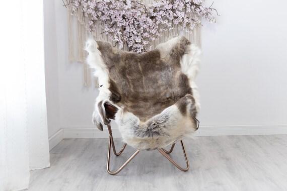 Reindeer Hide | Reindeer Rug | Reindeer Skin | Throw  - Scandinavian Style Christmas Decor Brown White Hide #Reindeer49