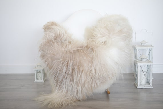 Real Icelandic Sheepskin Rug Scandinavian Decor Sofa Sheepskin throw Chair Cover Natural Sheep Skin Rugs Beige Blanket Fur Rug #isleb32