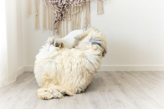 Real Sheepskin Merino Rug Shaggy Rug Chair Cover Sheepskin Throw Sheep Skin Sheepskin Home Decor Rugs Blanket Creamy White #herdwik101