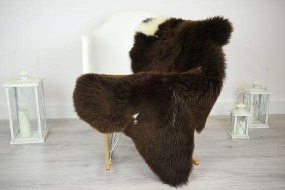 Sheepskin Rug | Real Sheepskin Rug | Shaggy Rug | Chair Cover | Sheepskin Throw | Brown Sheepskin | Home Decor | #JAC16