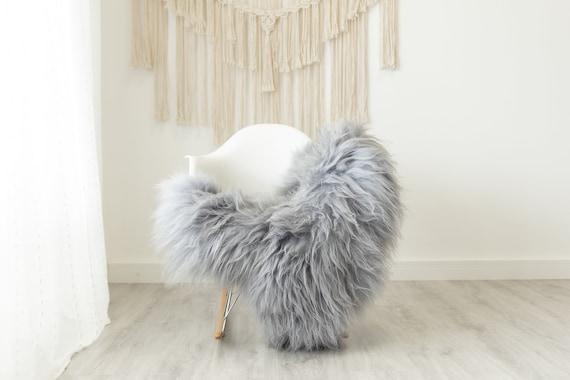 Real Icelandic Sheepskin Rug Scandinavian Home Decor Sofa Sheepskin throw Chair Cover Natural Sheep Skin Rugs Gray #Iceland502