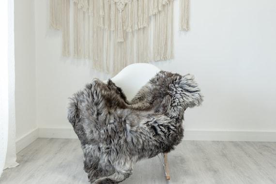 Real Sheepskin Rug Shaggy Rug Chair Cover Scandinavian Home Sheepskin Throw Sheep Skin White Gray Sheepskin Home Decor Rugs #Gut61