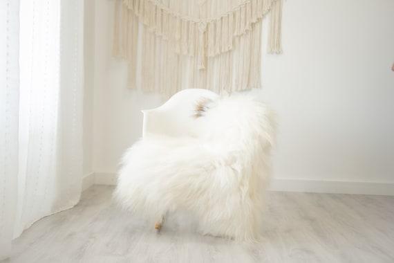 Real Icelandic Sheepskin Rug Scandinavian Home Decor Sofa Sheepskin throw Chair Cover Natural Sheep Skin Rugs White Ivory  #Iceland508