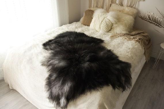 Real Icelandic Sheepskin Rug Scandinavian Decor Sofa Sheepskin throw Chair Cover Natural Sheep Skin Rugs Black Gray Fur Rug #Islbeau38