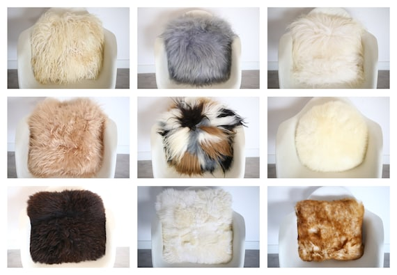 Real Sheepskin Fur Pillow Pillows