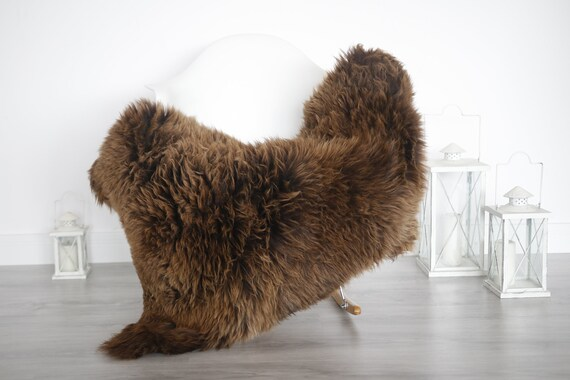 Real Sheepskin Rug Shaggy Rug Chair Cover Sheepskin Throw Sheep Skin White Brown Sheepskin Home Decor Rugs #6her19