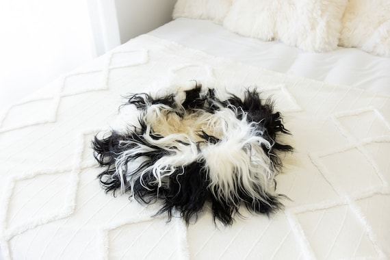 Sheepskin Cat Bed Or Dog Bed Cat Cave Unique Pet Bed Cat House Pet Furniture Hand Made With Genuine Real Sheepskin XXL Extra Large #Bed27