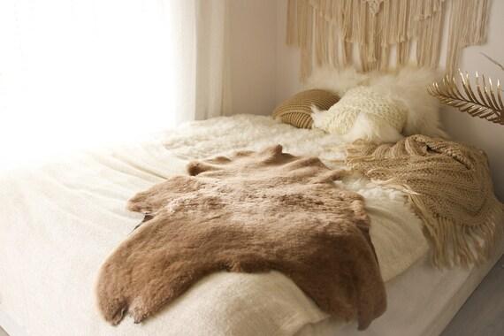 Real Sheepskin Rug Shaggy Rug Chair Cover Sheepskin Throw Sheep Skin Champagne Sheepskin Scandinavian Home Decor Rugs #Roz6