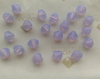 24pc 12pc Swarovski Crystal 4mm Violet or 6mm Bicone Beads Light Purple