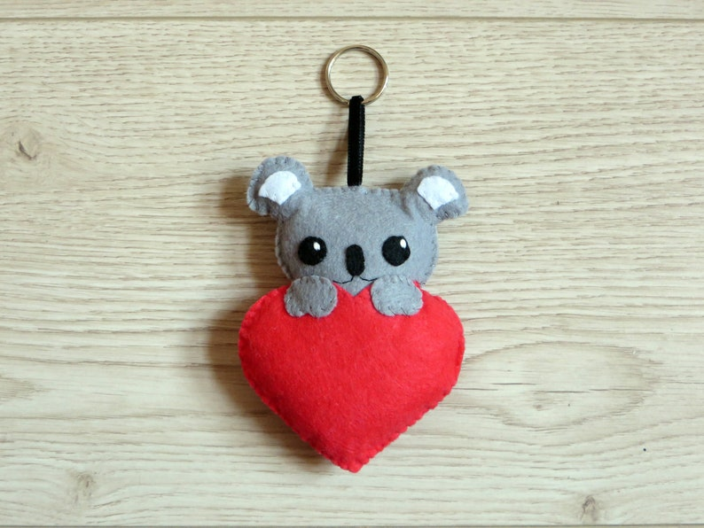 Koala plush kawaii to hang in felt handmade animal lovers image 0