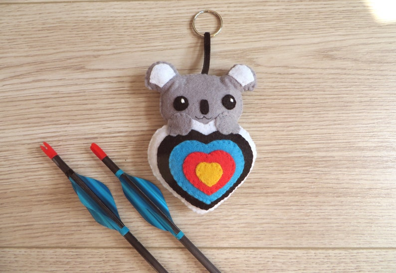 Archery lover gift quiver ornament cute koala bear in an image 0