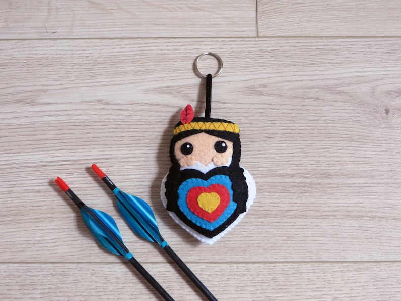 Archery ornament native american bag charm for quiver in an image 0