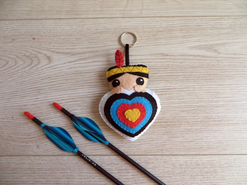 Archery felt quiver ornament native american boy in an image 0