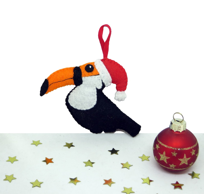 Toucan ornament tropical tree decoration holiday ornament image 0