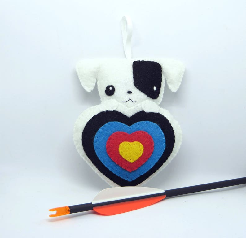 Jack Russell plush kawaii for archery quiver in felt image 0