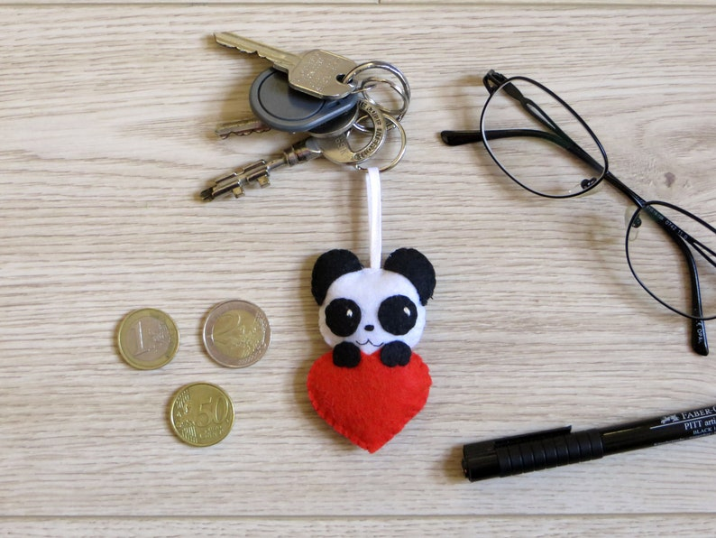 Valentine's day gift idea panda keychain cute in a image 0