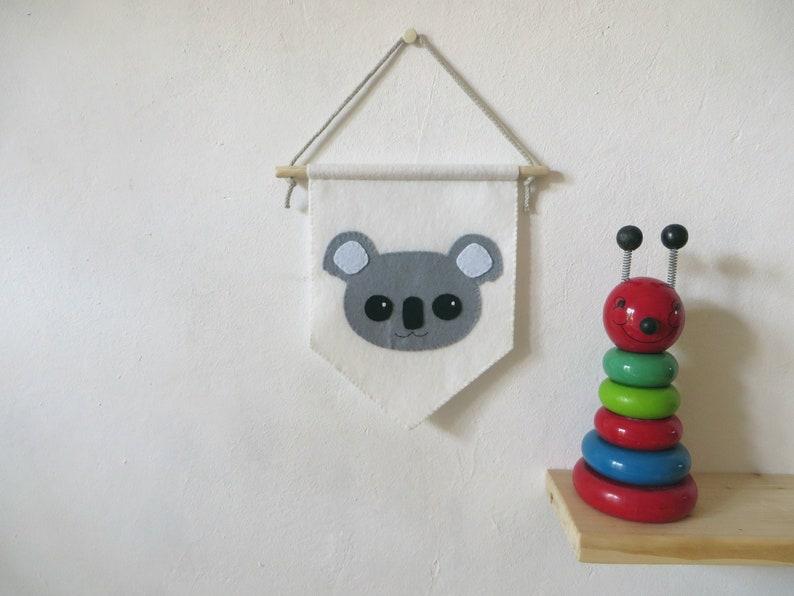 Koala bear banner pennant flag nursery decor felt animal image 0